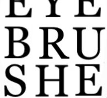 Diptyque design- eye brushes Sticker