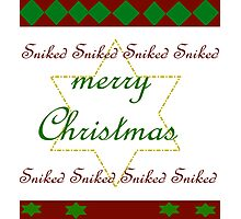 ugly Christmas Sweater Sniked Photographic Print