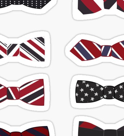 heart eyes and bow ties Sticker
