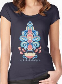 Ponyo Deco Women's Fitted Scoop T-Shirt
