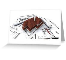 Abstract house Greeting Card