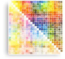 Watercolour Mixing Mega Chart Canvas Print