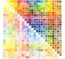 Watercolour Mixing Mega Chart Photographic Print