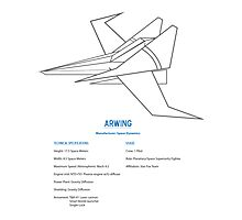 Arwing Photographic Print