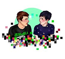 Dan and Phil Pixelsplosion Photographic Print