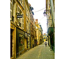 Backstreet in Blois Photographic Print