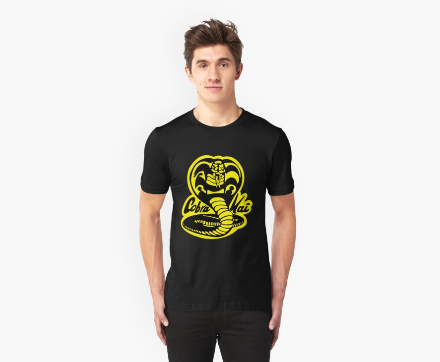 Cobra Kai T-shirt and stickers by eZonkey