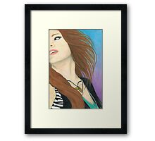Mia Von Glitz Pencil Drawing Framed Print
