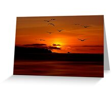 SUNSET FLYERS Greeting Card