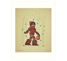 Bigfoot Trick or Treat Art Print