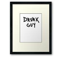 drunk guy funny club pub bar 80s tee Framed Print