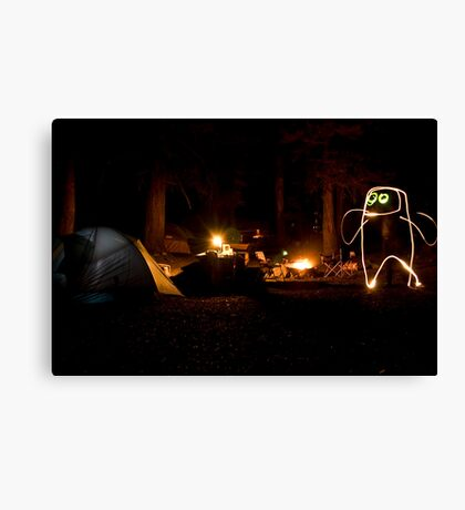 Creature of the Forest Night Canvas Print