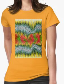 Fury abstract. Womens Fitted T-Shirt