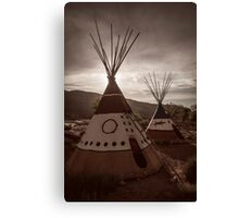 Tipi at Sunset Canvas Print