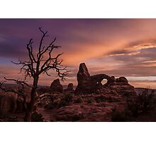 Sunset at Turret Arch Photographic Print