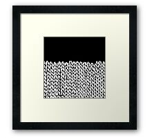 Half Knit Framed Print