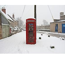 Telephone box in the Snow Photographic Print
