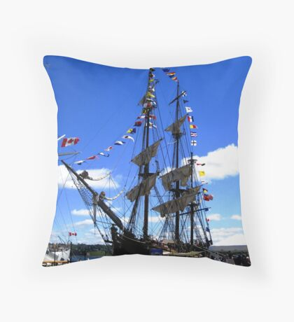 Tall Ship Throw Pillow