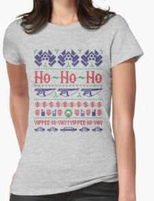 McClane Christmas Sweater Womens Fitted T-Shirt