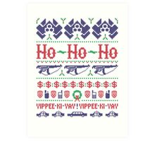 McClane Christmas Sweater Art Print