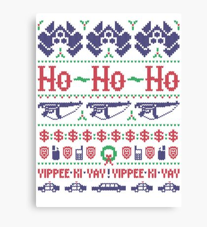 McClane Christmas Sweater Canvas Print