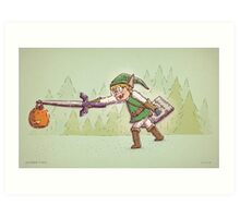 Link Trick or Treat Art Print