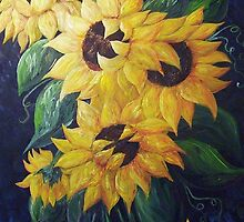 Dancing Sunflowers by EloiseArt