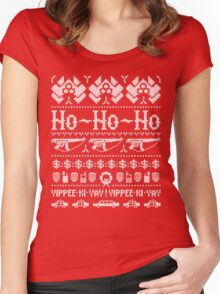 McClane Christmas Sweater White Women's Fitted Scoop T-Shirt