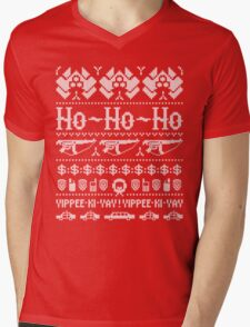 McClane Christmas Sweater White Mens V-Neck T-Shirt