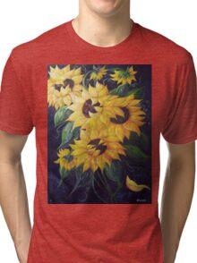 Dancing Sunflowers Tri-blend T-Shirt