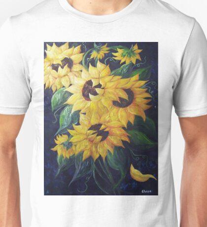 Dancing Sunflowers Unisex T-Shirt