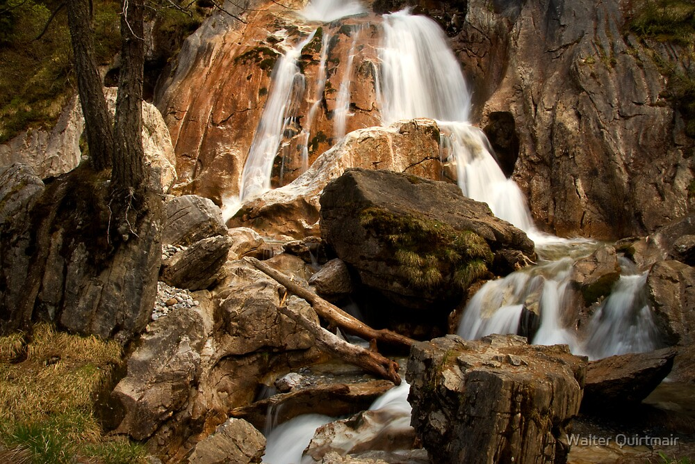 Alpine Waterfall by Walter Quirtmair