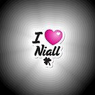 One Direction - I Love Niall iPad case by Adriana Owens