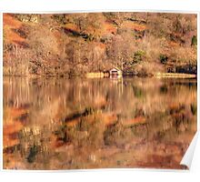 Boat House reflections Poster
