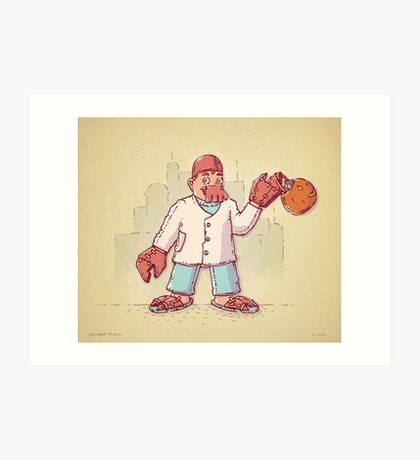 Zoidberg Trick or Treat Art Print