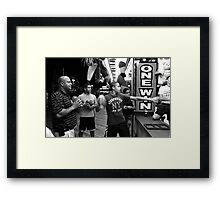 Family Night at Jersey Shore Framed Print