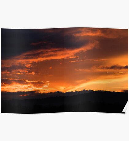 Western Sunset Poster