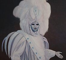 The lady in white,Venice Carnival. by Howard Sparks