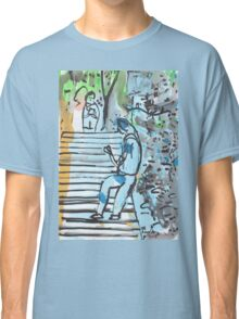 Young Woman in a Headscarf Playing with her Phone, Hong Kong Classic T-Shirt