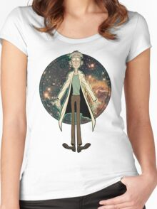 Doofus Rick (Starry Coin) Women's Fitted Scoop T-Shirt