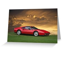 1987 Ferrari 328 GTS Greeting Card