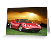 1973 Ferrari Dino 246 GTS Greeting Card