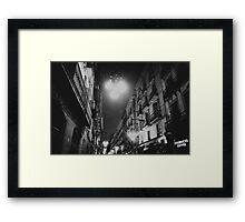 street in night Framed Print