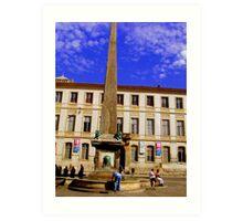 La Place De Republique  Arles Provence Art Print