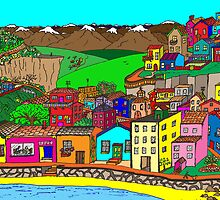 Valparaiso inspired village by David Fraser