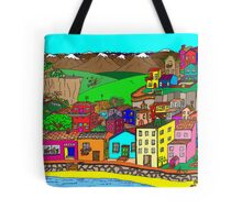 Valparaiso inspired village Tote Bag