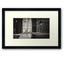 in the city Framed Print