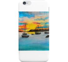 Sailboats at St. Augustine iPhone Case/Skin