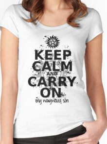 Keep Calm - SPN Style Women's Fitted Scoop T-Shirt