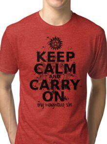 Keep Calm - SPN Style Tri-blend T-Shirt